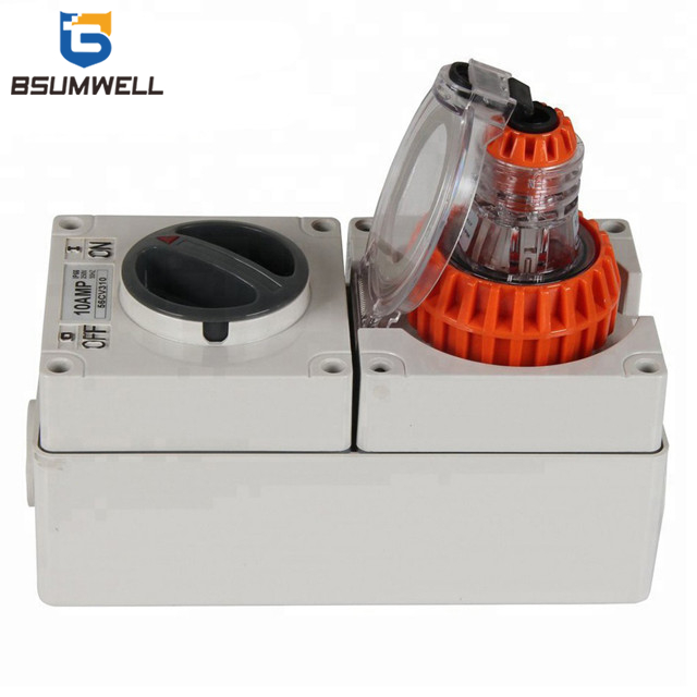 Australia 3 phase 56CV420 4 round pin 500V 20A 20 amp Electric waterproof industrial Combination switch socket outlet