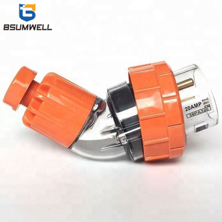 Australia Standard 56PA320 three phase 250V 20A 20 amp 3P 3 round pin Waterproof Angled industrial plug with CE