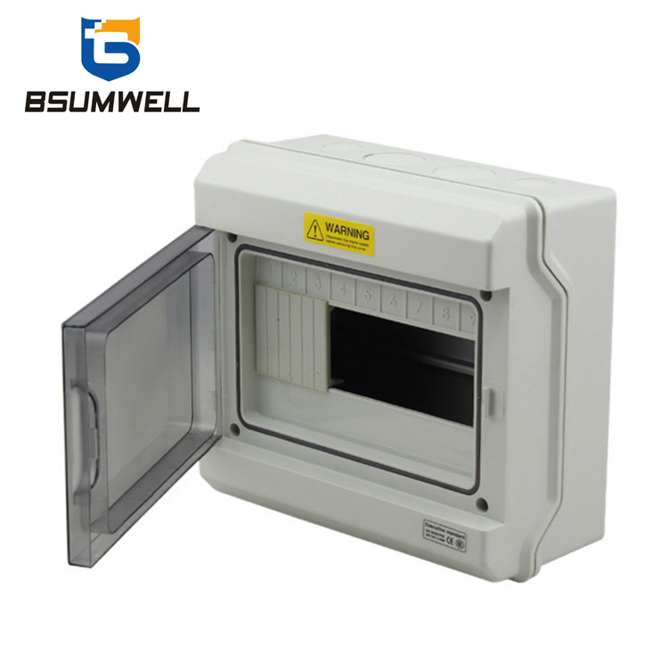 PS-GDB-09 9ways Waterproof Electrical Plastic Distribution Box with Busbar Use for Mcb Contactor