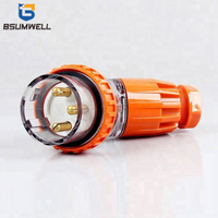 Australia Standard 56PA332 three phase 250V 32A 32 amp 3P 3 round pin Waterproof Angled industrial plug with CE Approval