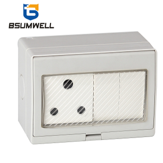 PS2-SA2S IP55 Waterproof ABS PC Plastic South Africa Type 16A 2Gang 2Way Switch 1Gang Socket