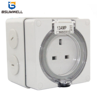 Australia Standard Single phase 56SO313 3 flat pin 250V 13A UK Electric waterproof industrial socket with CE Approval