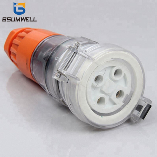 Australia Standard three phase 56CSC450 500V 50A 4pin Electric waterproof industrial Extension Cable socket with CE