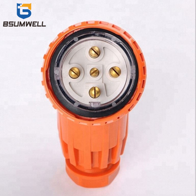 Australia Standard 56PA510 three phase 250V/500V 10A 3P+E+N 5 round pin Waterproof Angled industrial plug with CE Approval